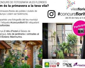 Participa al III concurs de fotografia de Viles Florides a Instagram